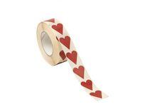 Etikett hjärta röd 22x25mm 1000/RL
