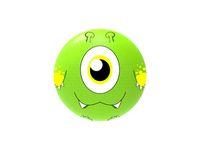 Boll Skolgård Monster grön.