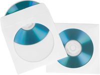 CD-Ficka HAMA Papper Vit 100/FP