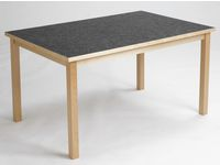 Akustikbord  80x120cm Antracit höjd 58cm