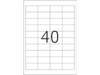 Etikett  48,5x25,4 4000/FP
