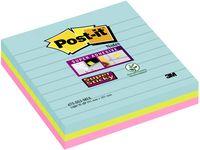 POST-IT Sup Stic Miami linj 101x101 3/FP
