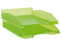 Brevkorg A4 transp. limegrön