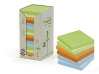 Notes POST-IT 100%recyc 76x76 Rainb16/F