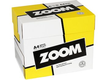 Kopieringspapper Zoom. A4 80g. Ohålat. 2500 ark/förp.
