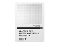 Anteckningsblock A5 100 blad rutat TF