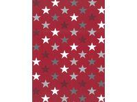 Julpapper 70cmx20m Stars röd