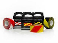 Varningsband röd/vit 75mmx500m