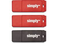 USB-Minne SIMPLY USB 2.0 16GB Cap 3/FP