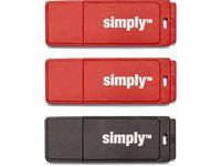 USB-Minne SIMPLY USB 2.0 16GB Cap 3/FP