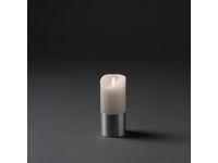 Vaxljus LED 7,5x17cm silverfolie