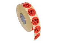 Etikett 70% avdrages i kassan