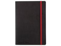 Ant.bok OXFORD Black n´Red A5 soft linj