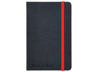 Ant.bok OXFORD Black n´Red A5 hard linj