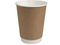 Kaffebägare double wall 36cl brun 25/FP
