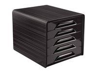 Blankettbox CEP Smoove 5 lådor svart