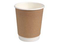 Kaffebägare double wall 24cl brun 25/FP