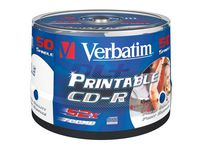 CD-R VERBATIM 700MB Printable 50/FP