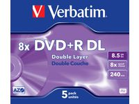 DVD+R VERBATIM 8,5GB Dual Layer 5/FP