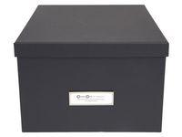 Förvaringsbox m.lock kartong  grå