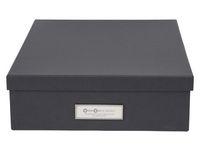 Förvaringsbox m.lock kartong A4 grå