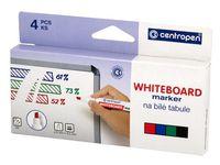 Whiteboardpenna CENTROPEN skuren 4/FP