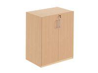 Hylla med dörrar 2-plan monterad bok