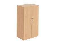 Hylla med dörrar 3-plan monterad bok