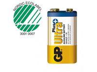 Batteri GP Ultra Plus 9V 6LF22 1/FP