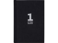 1-årsdagbok, svart linnetextil - 1092