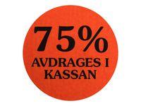Etikett 75% avdrages i kassan 2000/RL