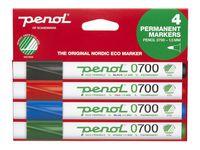 Märkpenna PENOL 0-700 perm 1,5mm 4 färg