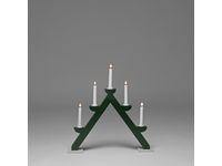 Ljusstake 5-arm trä grön