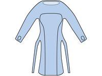 Förkläde lång ärm 98x125cm blå 20/FP