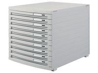 Blankettbox HAN 10 lådor grå