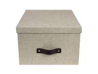 Förvaringsbox m.lock kartong linne