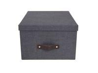 Förvaringsbox m.lock kartong svart