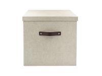 Förvaringsbox m.lock kartong stor linne