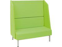 Soffa, ljuddämpande, grön.