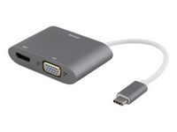 Adapter DELTACO USB-C - HDMI/VGA