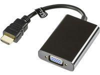 Adapter DELTACO HDMI-VGA/3,5mm 0,2m