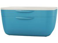 Blankettbox LEITZ COSY 2 lådor blå
