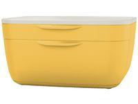 Blankettbox LEITZ COSY 2 lådor gul