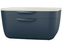 Blankettbox LEITZ COSY 2 lådor grå