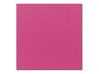 Duni Servett 3-lags 33x33cm Rosa (fp om 125 st)