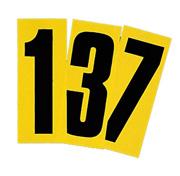 Siffror , svart på gul