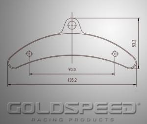 Bromsbelägg bak set Goldspeed Birel 135x15