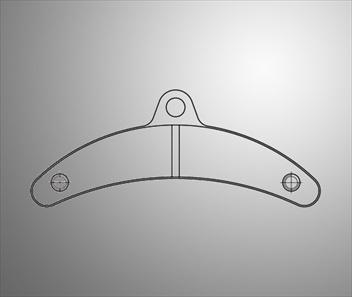 Bromsbelägg fram/bak birel 100x11 (blå)