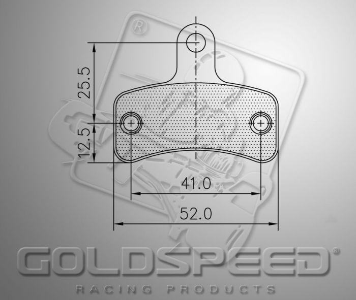 Bromsbelägg Goldspeed 561