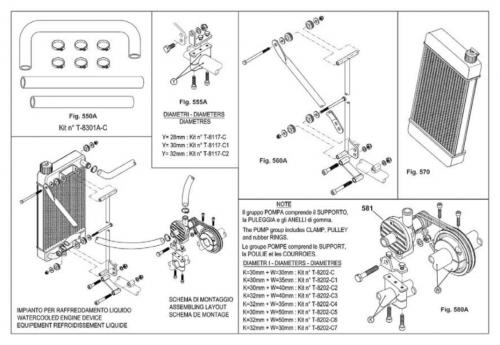 Fäste till Kylare X30 410x230 mm